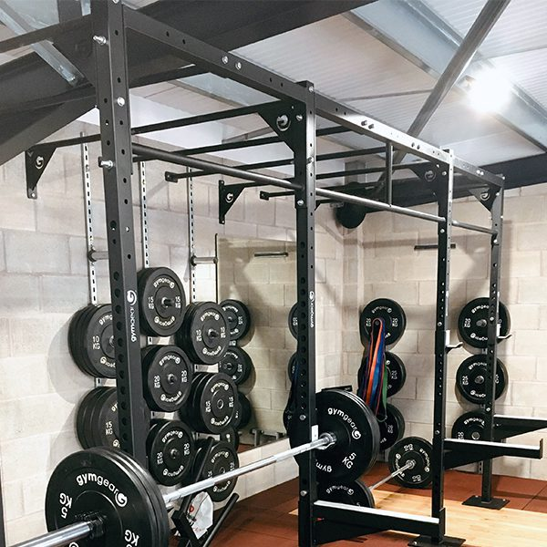 2 Station Squat Rig + Extension – Wall Mounted-2437